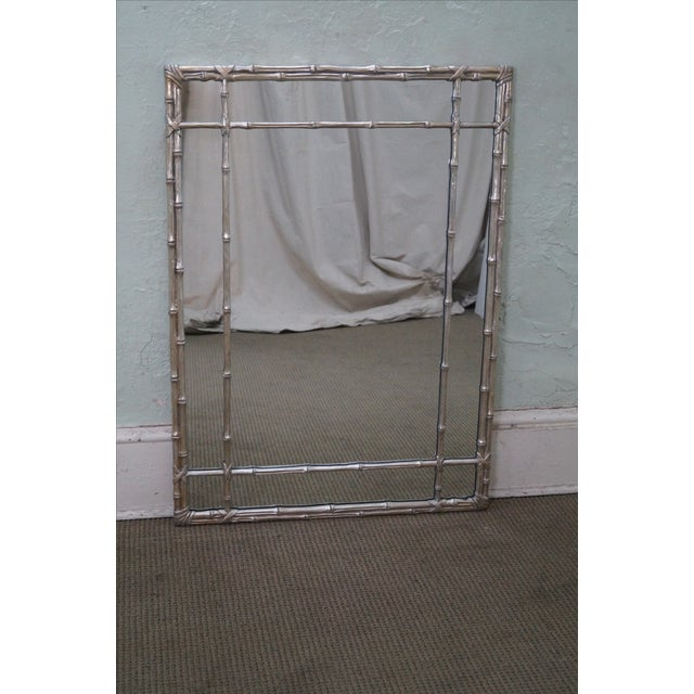 Hollywood Regency Faux Bamboo Mirror - Image 2 of 10