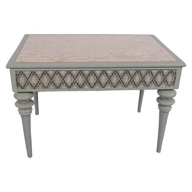 Image of Regency-Style 1950s Painted End Table