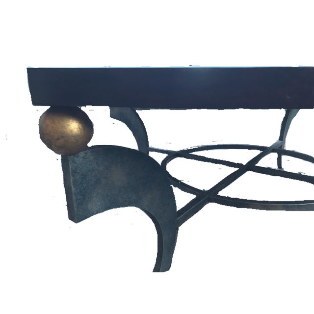 Mid Century Solid Wood Wrought Iron Coffee Table Chairish