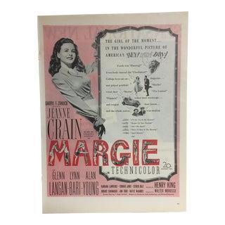 "Vintage ""Margie: America's Girl"" Ad 1940s"