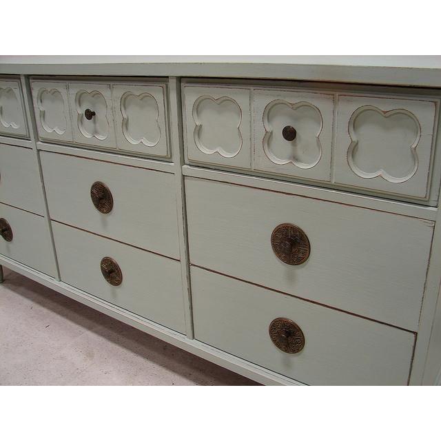 Vintage Antique Jade Painted Low Dresser - Image 4 of 4