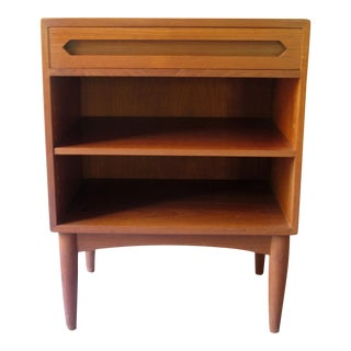 Danish Mid-Century Modern Modern Teak Nightstand Table