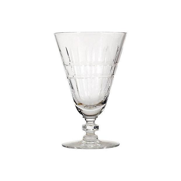 Image of 1920's Miter-Cut Glass Stems - Set of 6