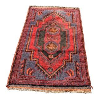 "Vintage Persian Mehabad Rug - 2'11"" x 4'11"""