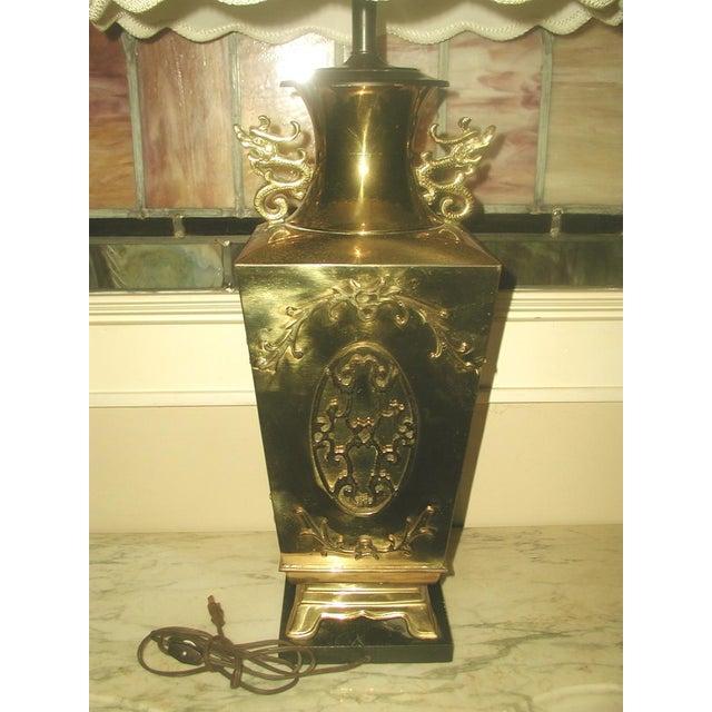 Brass Oriental Lamp Large, 3 Way Lighting - Image 3 of 9