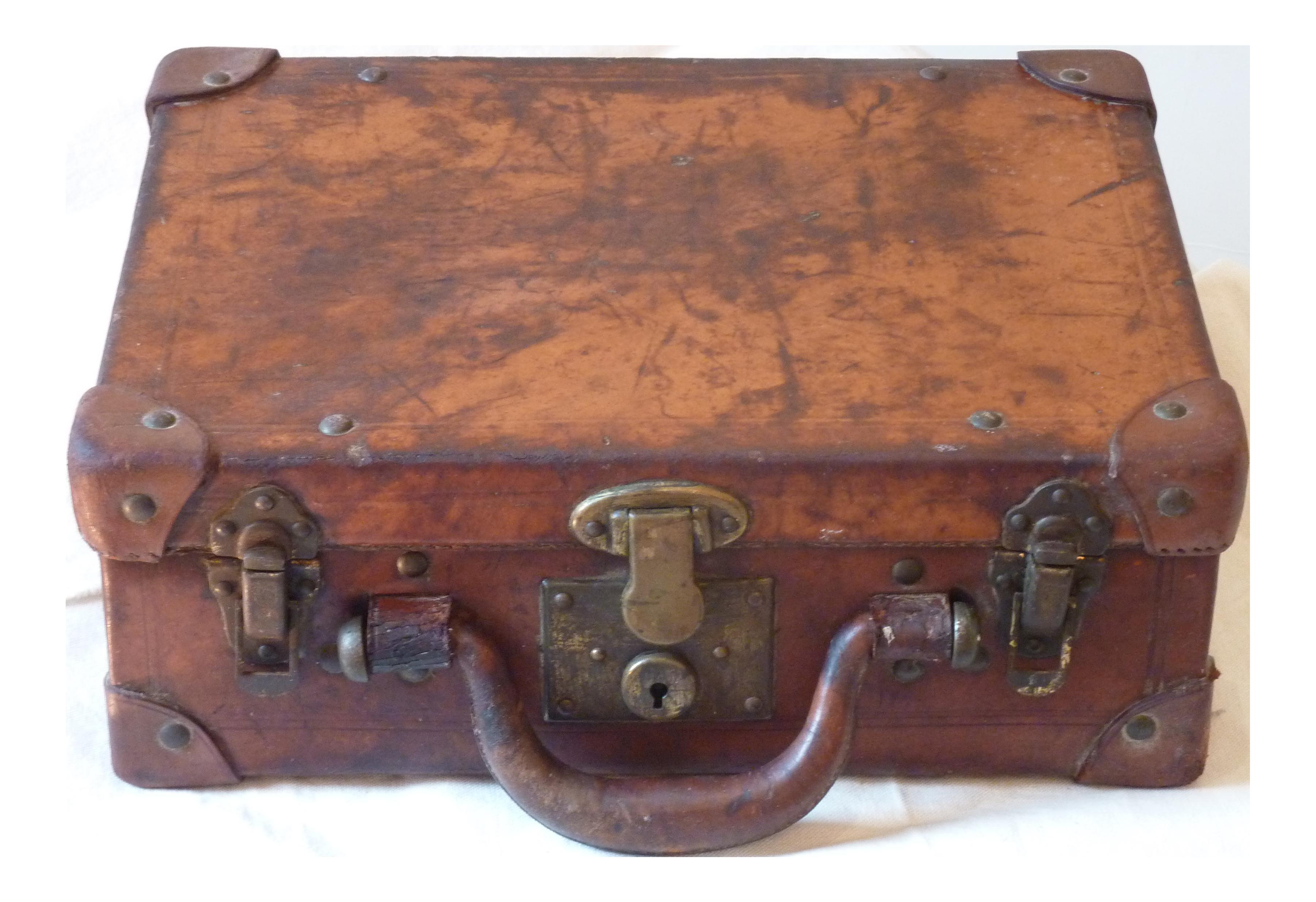 Vintage & Used Leather Luggage | Chairish