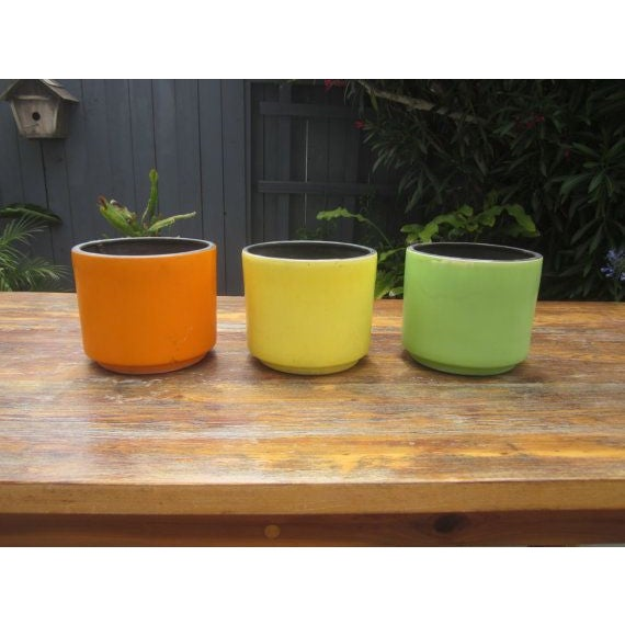 Modernist Plant Stand + California Pot Set Planter - Image 3 of 6