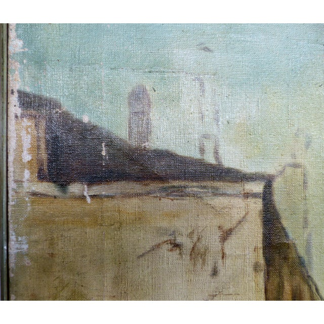 19th-C. Venetian Oil on Canvas Screen - Image 6 of 11