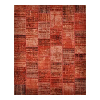"""Turkish Over-Dyed Distressed Patchwork Area Rug - 8'2"""" X 10'3"""""""