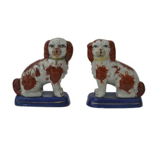 Victorian Staffordshire Dogs - A Pair