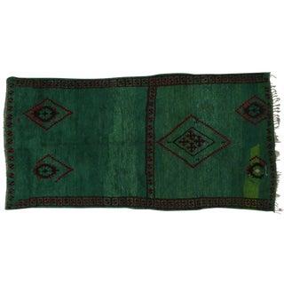 """Beni Mguild Moroccan Rug in Malachite Color, 06'06"""" x 12'10"""""""