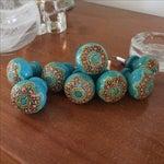 Image of Bohemian Turquoise Drawer Pulls - Set of 8