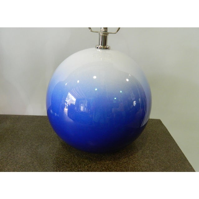 Blue & White Catalina Table Lamp - Image 4 of 5