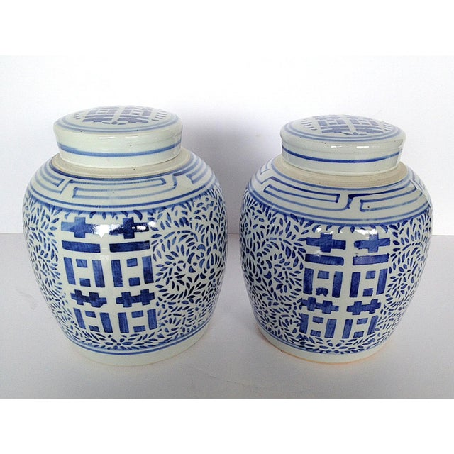Image of Double Happiness Ginger Jars - Pair