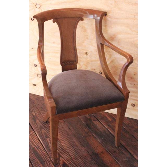 "Empire ""Chaise en Gondole"" Fruitwood Baker Dining Chairs - Set of Four - Image 6 of 8"