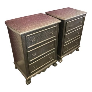 Metal Embossed Chests - A Pair