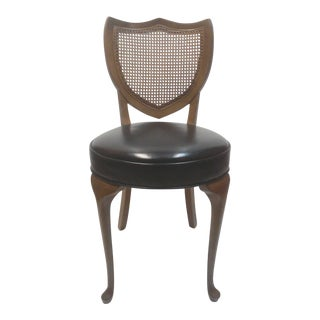 Petite Mahogany Queen Anne Shield Back Side Chair