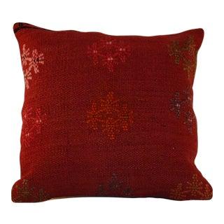 Vintage Handmade Boho Chic Wool Kilim Pillow