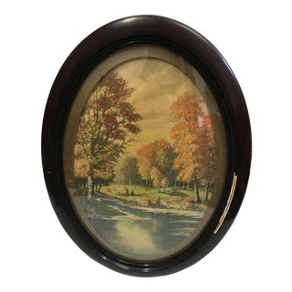 Oval Framed Victorian Print