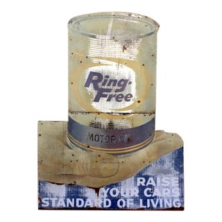 Vintage Tin Motor Oil Sign