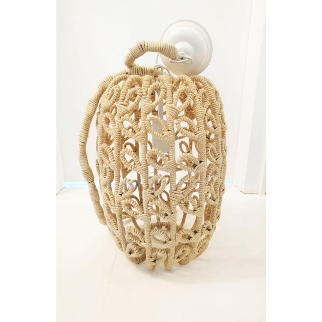 Boho-Chic Jute Pendant Light - Image 3 of 6