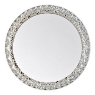 Mid-Century Small Round Light Up Wall Mirror