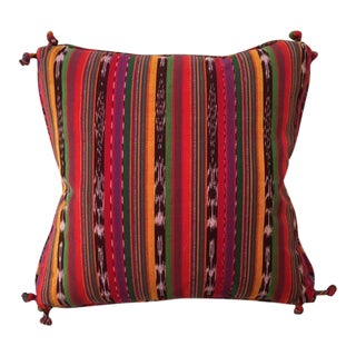 Guatemalan Striped Pillows - A Pair