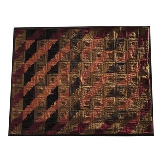 Fantastic 19th Century Mounted Lancaster County Miniature Log Cabin Crib Quilt
