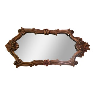 Antique Polychrome Gold Mirror