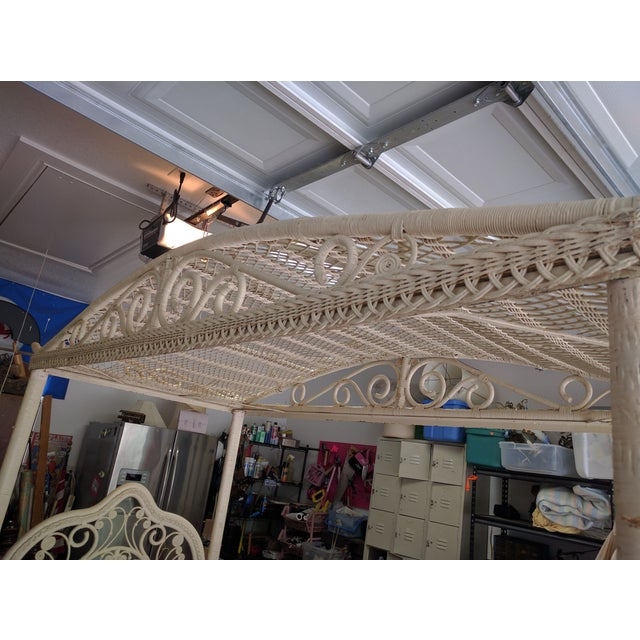 Image of Vintage Peacock Canopy Bed