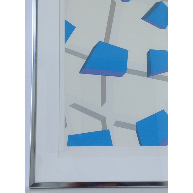 Original Signed Abstract Geometric Lithograph - Image 5 of 11
