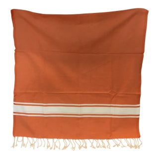 Orange Tunisian Hammam Towel