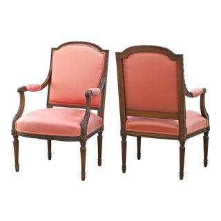 Louis XVI Bergere Chairs - A Pair