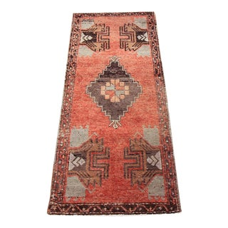 Vintage Tribal Oushak Rug - 1′8″ × 4′