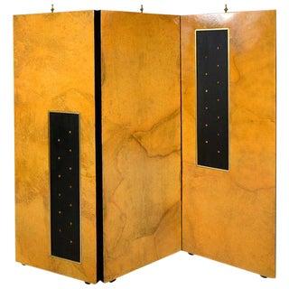 Arturo Pani Parchment & Gold Leaf Screen