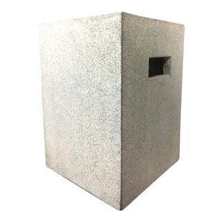 Contemporary Concrete Garden Stool