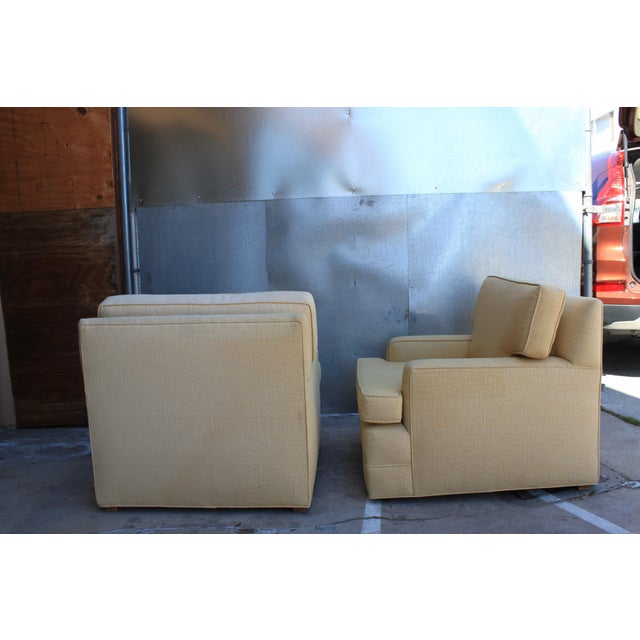 Mid-Century Tweed Chairs - A Pair - Image 5 of 6