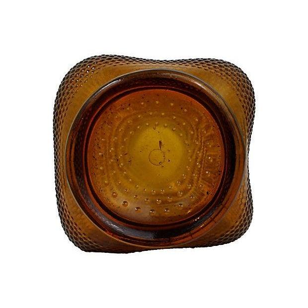 Large Amber Glass Vase - Image 6 of 6