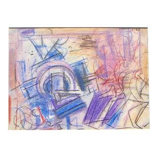 Erle Loran Mud Flats Oil Pastel Painting