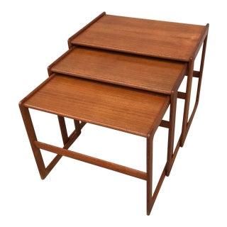 Danish Teak Nesting Tables - Set of 3