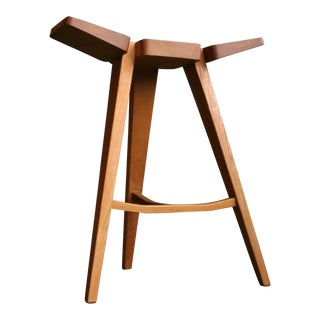 Scandinavian Style Ash Wood Counter Stool/ Brand New