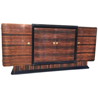 French Art Deco Macassar Ebony Buffet