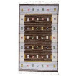 Vintage Carl Dagel Flat-Weave Swedish Carpet