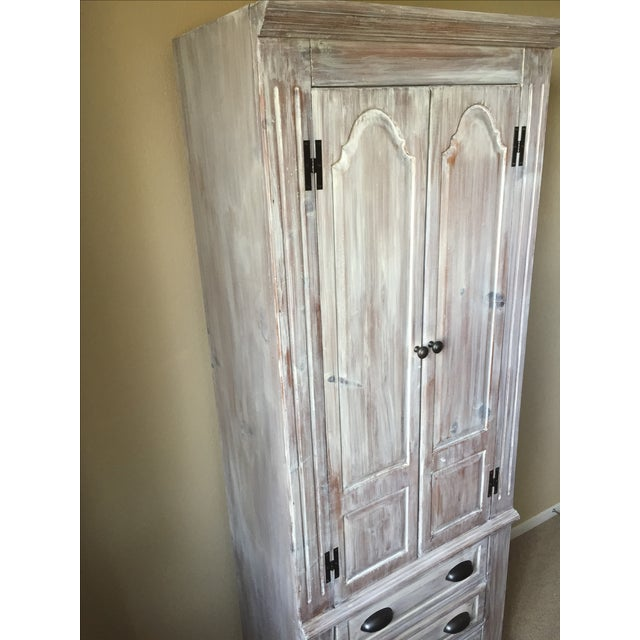 Solid Whitewash Armoire - Image 4 of 11