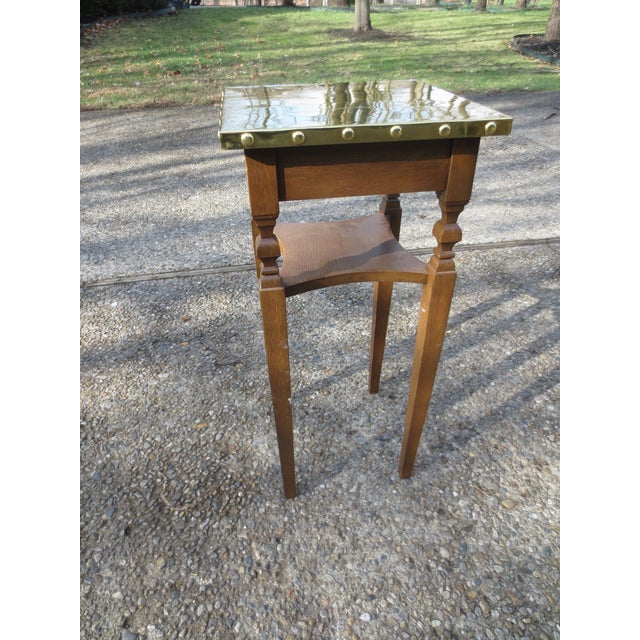 Image of Brass Bradded and Wrapped Wine Table