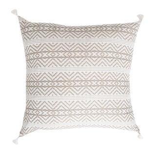 Mexican Tan Handwoven Pillow