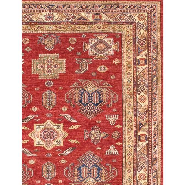 Kazak Design Hand-Knotted Wool Rug - 8'' X 10'' - Image 2 of 2