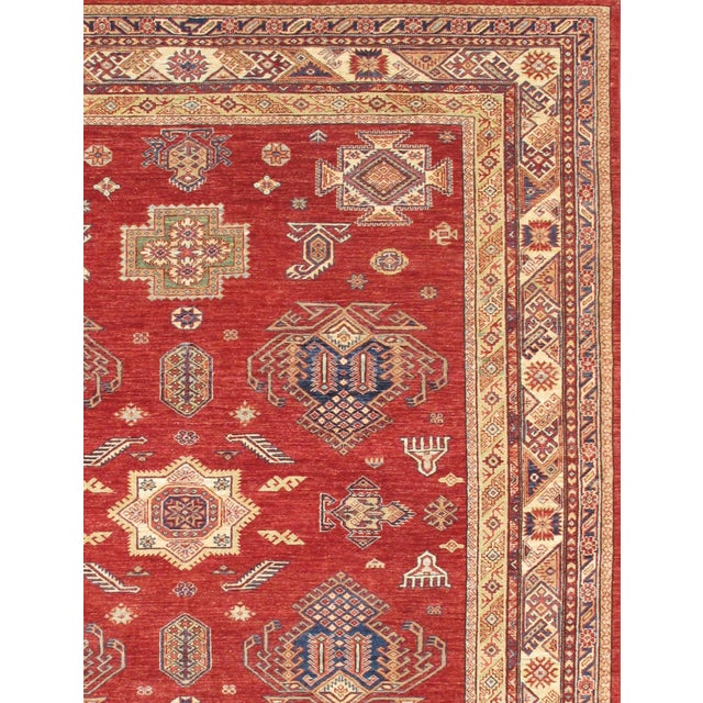 Image of Kazak Design Hand-Knotted Wool Rug - 8'' X 10''