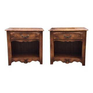 Ethan Allen Birchwood Nightstands - A Pair