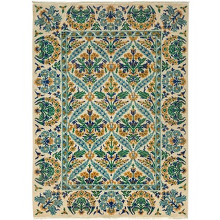 """Suzani Hand Knotted Area Rug - 5'4"""" X 7'3"""""""